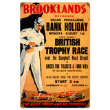 Brooklands Metal Sign Wall Decor 16 x 24
