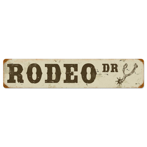 Rodeo Drive Metal Sign Wall Decor 28 x 6