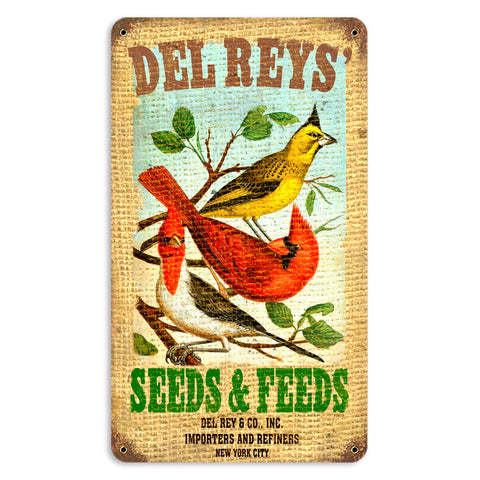 Del Rey's Seeds Metal Sign Wall Decor 8 x 14