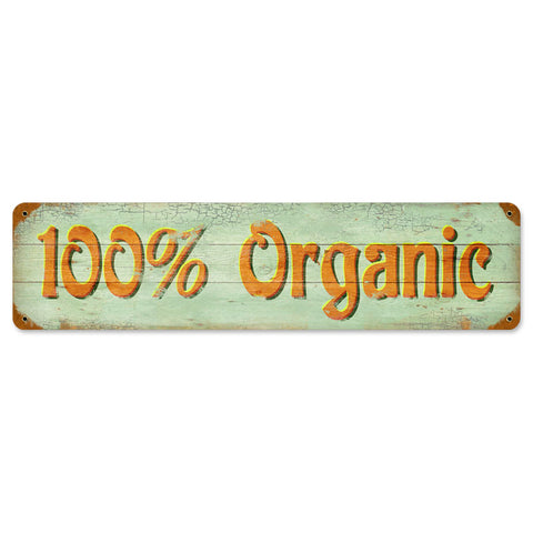 100% Organic Metal Sign Wall Decor 20 x 5