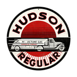 Hudson Gasoline Metal Sign Wall Decor 14 x 14