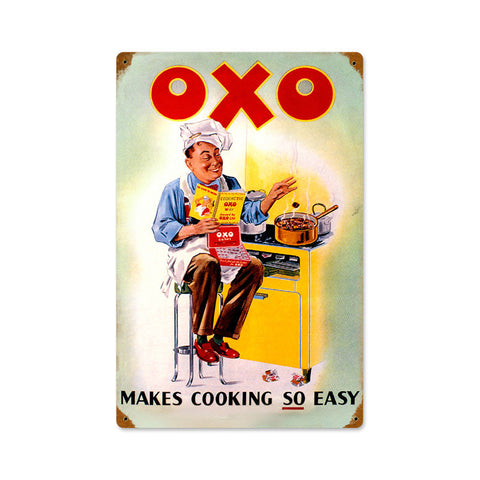 OXO Cook Metal Sign Wall Decor 12 x 18