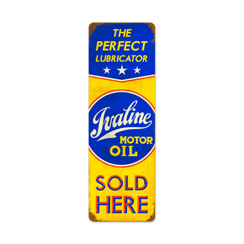 Ivaline Motor Oil Metal Sign Wall Decor 8 x 24