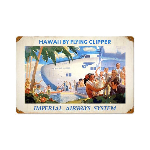 Hawaii by Clipper Metal Sign Wall Decor 18 x 12
