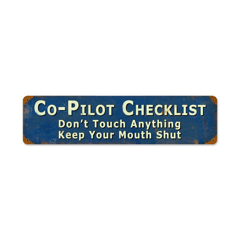 Copilot Metal Sign Wall Decor 20 x 5