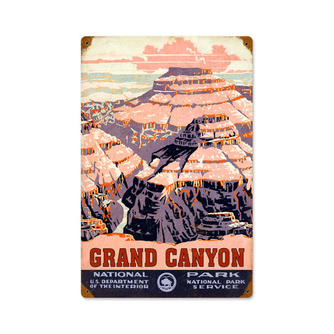 Grand Canyon Metal Sign Wall Decor 12 x 18