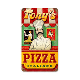 Pizza Metal Sign Wall Decor 8 x 14