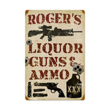 Liquor Guns and Ammo Metal Sign Wall Decor 16 x 24