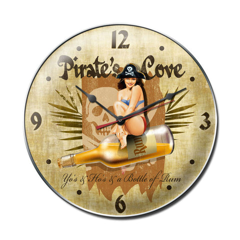 Pirates Cove Metal Sign Wall Decor 14 x 14