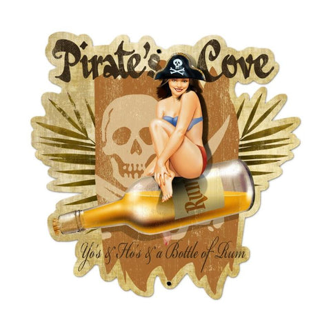 Pirates Cove Metal Sign Wall Decor 23 x 24