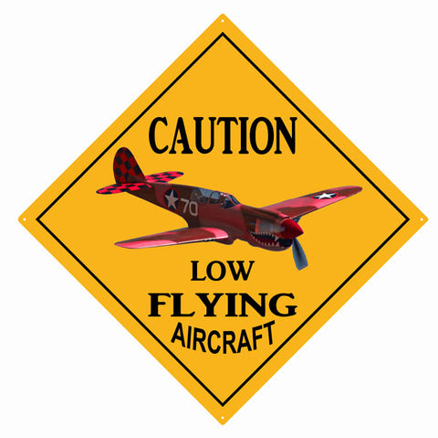 Caution Low Flying Aircraft Sign 12x12