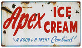 Vintage Apex Ice Cream Sign 8x14