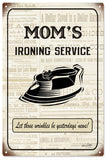 Vintage Moms Ironing Service Sign