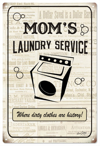 Vintage Moms Laundry Service Sign