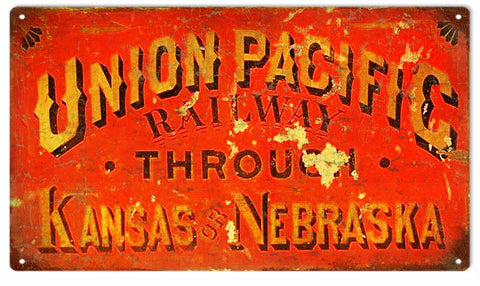 Vintage Union Pacific Sign 8x14