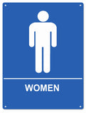 Womens Restroom Sign 9x12