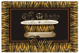 Vintage Leopard Enjoy Bathtub Sign