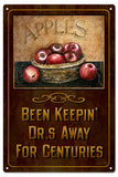 Vintage Apples Sign 8x14