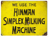 Vintage Milking Machine Sign 9x12