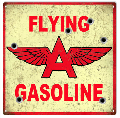 Flying A Gasoline Sign 12x12