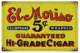 Vintage El Moriso Cigar Sign