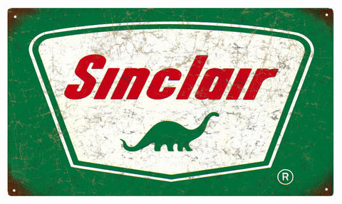 Vintage Sinclair Gasoline Sign 8 x14