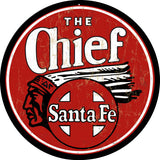 The Chief Santa Fe Railroad Sign Round 14