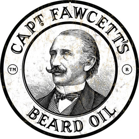 Vintage Capt Fawcetts Beard Oil Barber Sign14