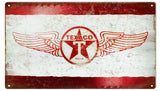 Vintage Texaco Gas Station Sign 8x14