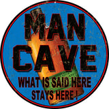 Vintage Man Cave Bar sign 14 Round