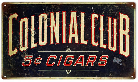 Vintage 5 Cent Cigar Sign 8x14