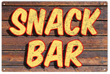 Vintage Snack Bar Sign