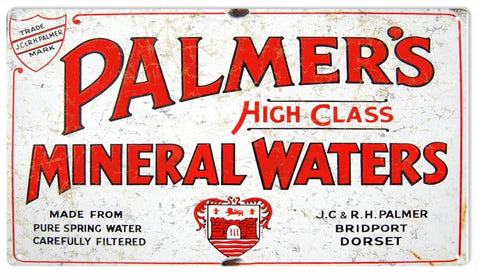 Vintage Palmers Water Sign 8x14