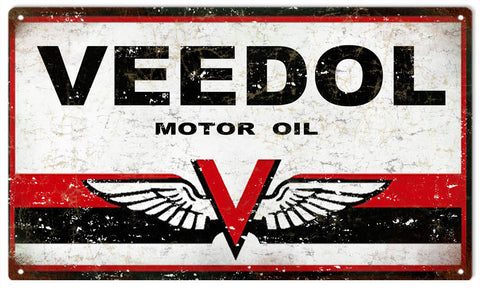 Vintage Veedol Motor Oil Sign8x14