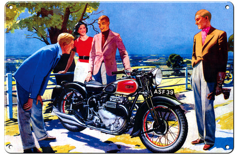 RG108B Triumph Classic British Motorcycle Sign Garage Art