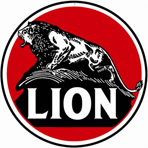 Lion Motor Oil Sign 14 Round
