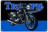 RG109B Triumph Motorcycle Classic British Motorcycle Sign Garage Art