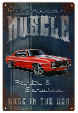RG10C American Muscle Car Garage Art Sign