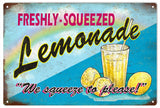 Vintage Fresh Squeezed Lemonade Sign