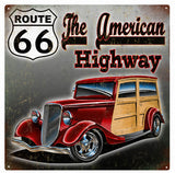 Vintage Route 66 American Highway Sign 12x12