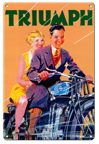 RG110B Triumph Classic British Motorscycle Sign