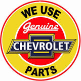 Chevrolet Parts Sign 18 Round