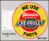 Chevrolet Parts Flange Sign 15x171/2