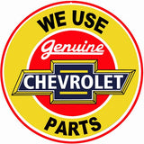 Chevrolet Parts Sign 14 Round