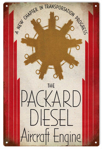 Vintage Packard Aircraft Engine Sign