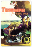 RG112B Triumph Classic British Motorcycle Sign
