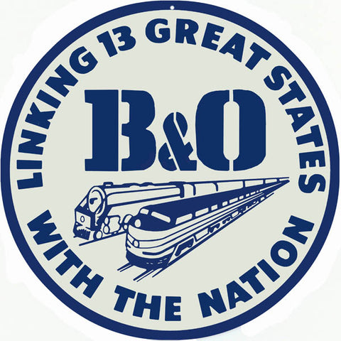 B&O Railroad Sign 14 Round