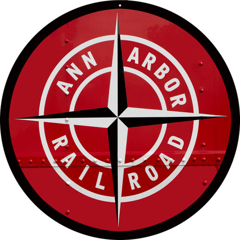 Ann Arbor Railroad Sign 14 Round