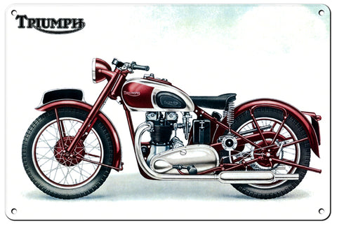 RG114B Triumph Classic British Motorcycle Sign