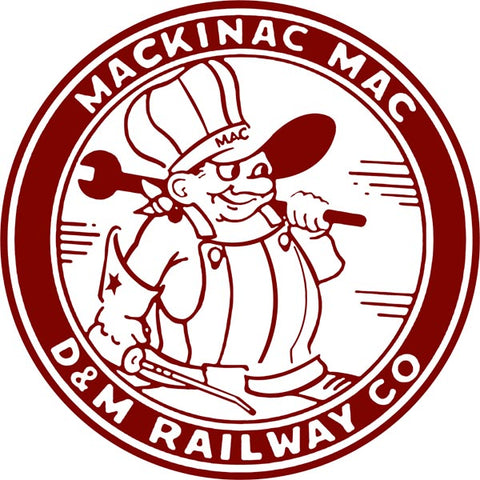 Mackinac Mac Railway Sign 14 Round